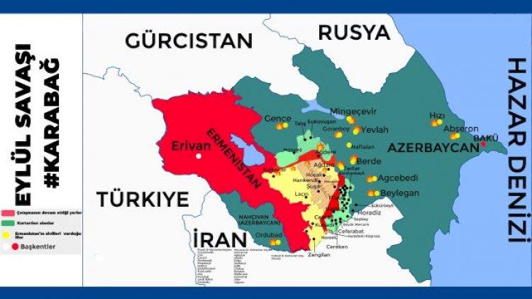 Toplam 78 yerleşim yeri işgalden kurtarıldı! İşte Dağlık Karabağ'daki son durumu en iyi anlatan harita