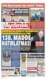 Aydınlık Vatan-emek-namus Gazete Manşeti