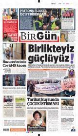 Halkın Gazetesi Birgün Gazete Manşeti