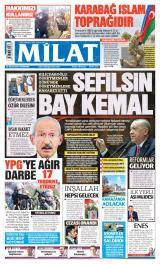 Milat Gazete Manşeti