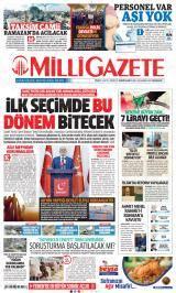 Milli Gazete Gazete Manşeti