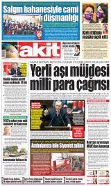 Yeni Akit Gazete Manşeti