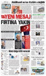 Yeni Mesaj Gazete Manşeti