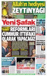 Yeni Şafak Gazete Manşeti