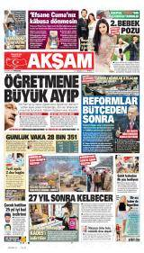 Akşam Gazete Manşeti