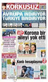 Açık Mert Korkusuz Gazete Manşeti