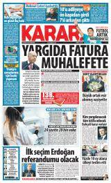 Karar Gazete Manşeti