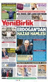 Yeni Birlik Gazete Manşeti
